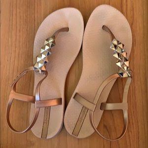 Ipanema Rose Gold Sandals